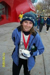 Me after my first marathon - Seattle - in 2002.