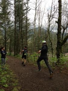 Ginger Runner (aka Ethan Newberry) chasing Bob Shebest